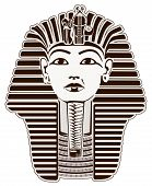 stock photo of cultural artifacts  - Tutankhamun Egyptian Pharaoh outline - JPG