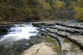 stock photo of sparta  - Burgess Falls State Park near Sparta Tennessee - JPG