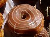 picture of doughy  - A Chocolate Donut with a swirl pattern - JPG