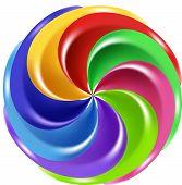 Rainbow Peppermint Christmas Candy