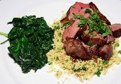 Lamb With Couscous And Spinach