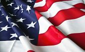 stock photo of rebs  - picture of the American flag with wavy texture - JPG
