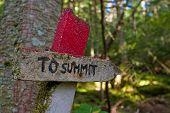 To Summit Sign Maine