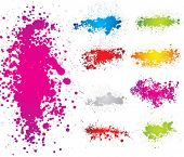 Creative set of inkblot silhouettes. vector