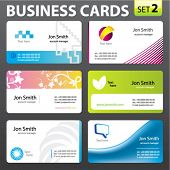 Business cards. Vector.