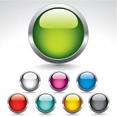 Original glossy buttons for web design. Vector.