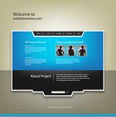 Plantilla de diseño de sitio web, vector.