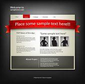 Plantilla de diseño de sitio Web. Vector.