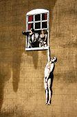 Banksy infidelity hanging man