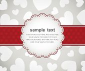 picture of valentines day card  - Template frame design for valentine - JPG