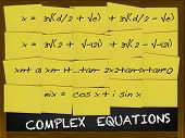 Complex Equation Written On Yellow Notes