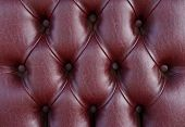 Pattern Of Old Dark Cherry Leather Upholstery Texture
