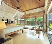 stock photo of terrazzo  - Interior for tropical resort with eco style in Thailand - JPG