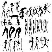 Primitive Art - Various Figures - Vector