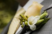 stock photo of boutonniere  - boutonniere - JPG