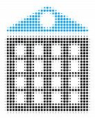 Apartment House Halftone Vector Pictogram. Illustration Style Is Dotted Iconic Apartment House Icon  poster
