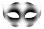 Privacy Mask Halftone Vector Icon. Illustration Style Is Dotted Iconic Privacy Mask Icon Symbol On A poster