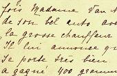 Hand geschriebenen Brief