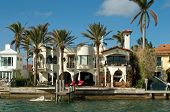 expensive house by the bay in Miami's key Biscayne Florida. Home to the rich and famous