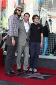 LOS ANGELES - SEP 19:  Ashton Kutcher,  Jon Cryer, Angus T. Jones at the Jon Cryer Hollywood Walk of