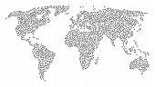 Global Geography Collage Map Created Of Medicine Caduceus Symbol Items. Vector Medicine Caduceus Sym poster