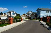 New Family Homes In Small Residential Area