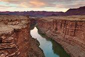 green river at sunset