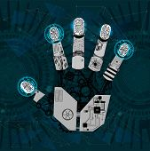 Mechanical Arm, Robot Hand, Hand Graphics In Technological Guise, Arm Mechanism poster