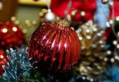 Christmas Tree Ornament - Red Bauble