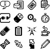 Mobile Phone Applications Gui Icon Series Set