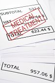 Medical Treatment Stamp On Financial Paper