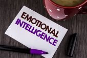 Word Writing Text Emotional Intelligence. Business Concept For Capacity To Control And Be Aware Of P poster