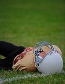 Youth American Football player down