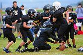 Youth American Football fumble