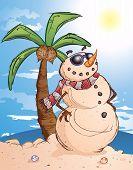 Tropical Sand Snowman