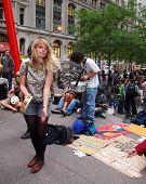 Occupy Wall St. Tamborine Girl