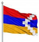 Waving flag of Nagorno-Karabakh