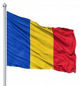 Waving flag of Romania