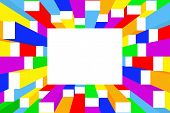 Colorful frame - vector