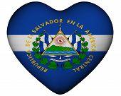 Heart With Flag Of El Salvador