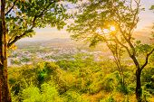 Landscape At Khao Rang Viewpoint Of Phuket City In Sunset, Phuket Province, Thailand poster
