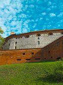 Very Old Tower Of Wawel Castle (polish Kings Castle)  Famous Landmark In Krakow, Poland. Medieval Ca poster