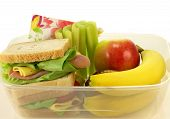 stock photo of por  - Healthy lunch por one person on isolated background - JPG