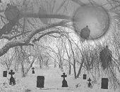 Spooky Halloween Graveyard