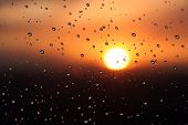Water Droplets During Sunset