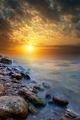 The Edge Of The Beach, Sea, Sunset