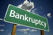 Bankruptcy Road Sign