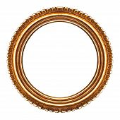 Old Retro Round Wooden Picture Frame