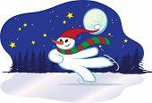 Snowman Winter Skating - Christmas