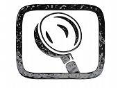 Search Symbol Black Crome